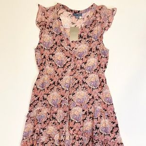 Anthropologie Dresses - Anthropologie Lil Pink Paisley Silk Dress Size 12